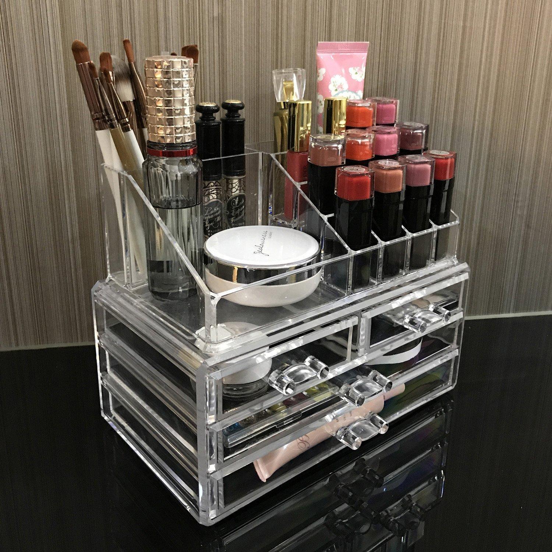 Amazon.com: Caja De Maquillaje Professional Para Mujer Organizador De Prendas: Beauty