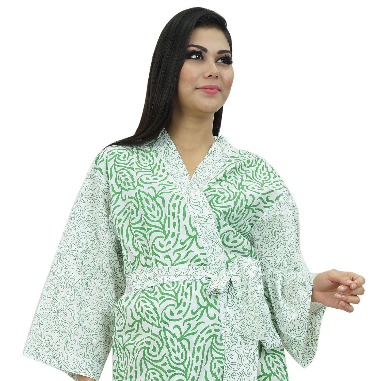 Batas de algodón indio Kimono Mujeres cruce del traje de dama Papel de regalo: Amazon.es: Ropa y accesorios