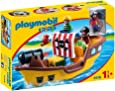 Playmobil 9118 1.2.3 Floating Pirate Ship with Firing Water Cannon
