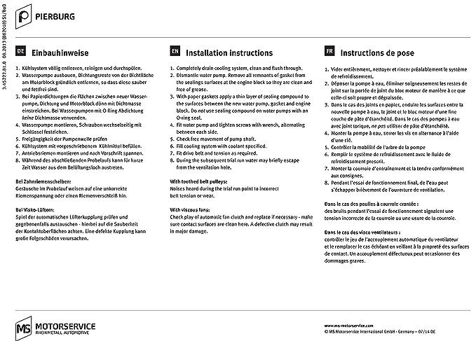 Porsche bomba de agua marca nuevo OEM Caudalímetro: Amazon.es: Coche y moto