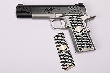 Amazon Com 1911 Custom Grip Laser Engraved Punisher Kimber Colt
