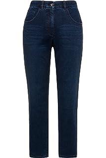 4e696ffe7c5 Ulla Popken Women s Plus Size Glitter Side Seam Stripe Stretch Jeans 719813