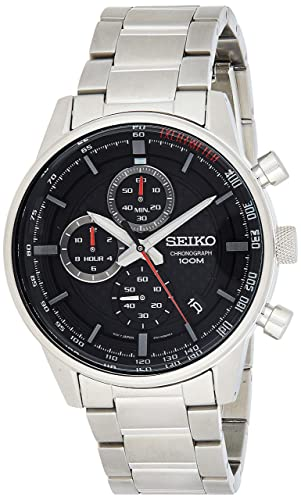 miglior servizio 73c3e 32502 Seiko Orologio Cronografo Quarzo Uomo con Cinturino in Acciaio ...