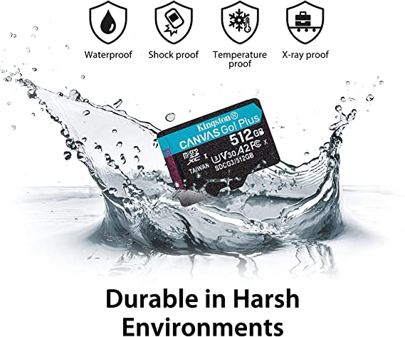Kingston 512GB Lava Iris 502 MicroSDXC Canvas Select Plus Card Verified by SanFlash. 100MBs Works with Kingston