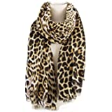 AIWANK Womens Leopard Print Scarf Winter Large Blanket Wrap Shawl Cheetah Scarves