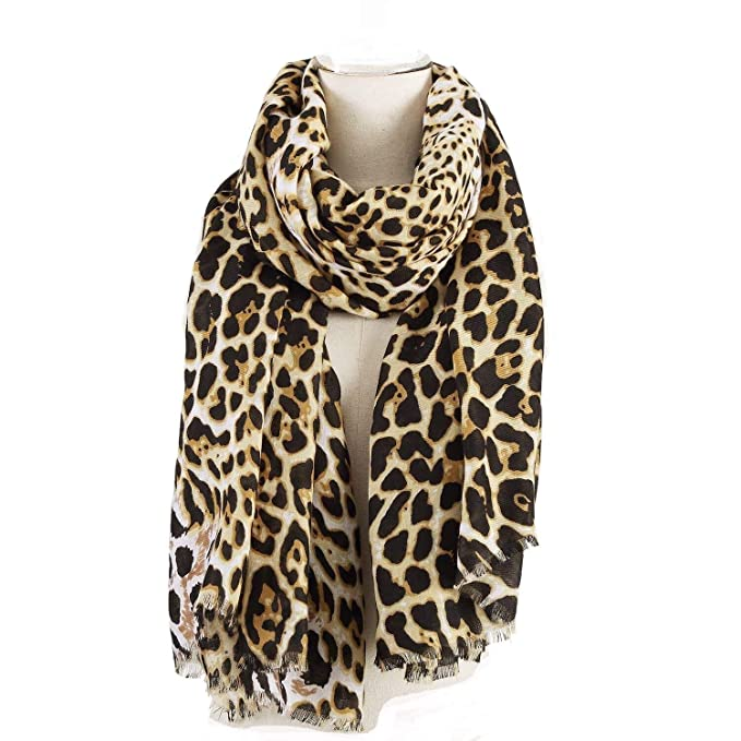 5bd1a07ef Image Unavailable. Image not available for. Color: Leopard Pattern Scarf  for Women Oversized Animal ...