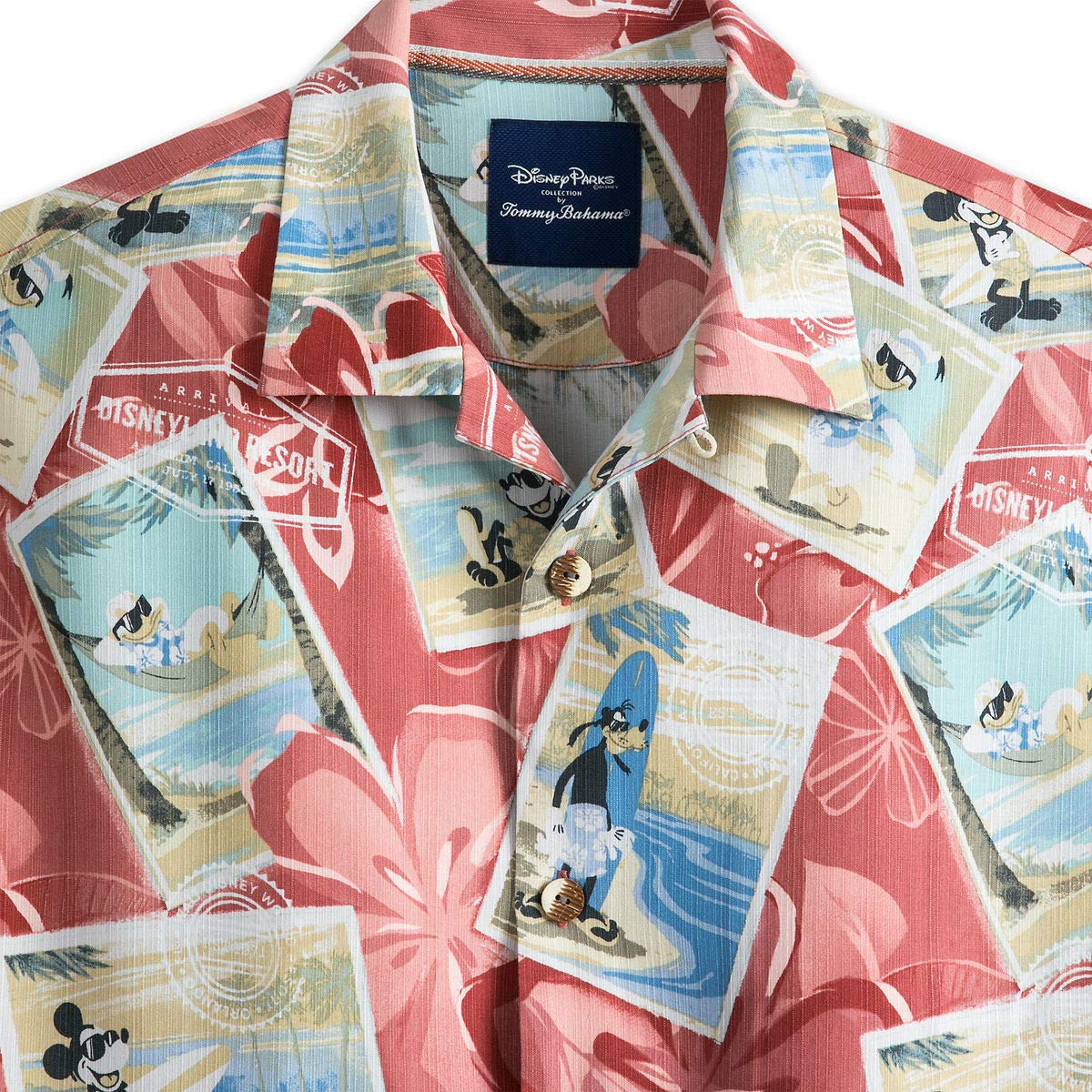 3b098f85 Mickey Mouse and Friends Silk Shirt for Men by Tommy Bahama at Amazon Men's  Clothing store: