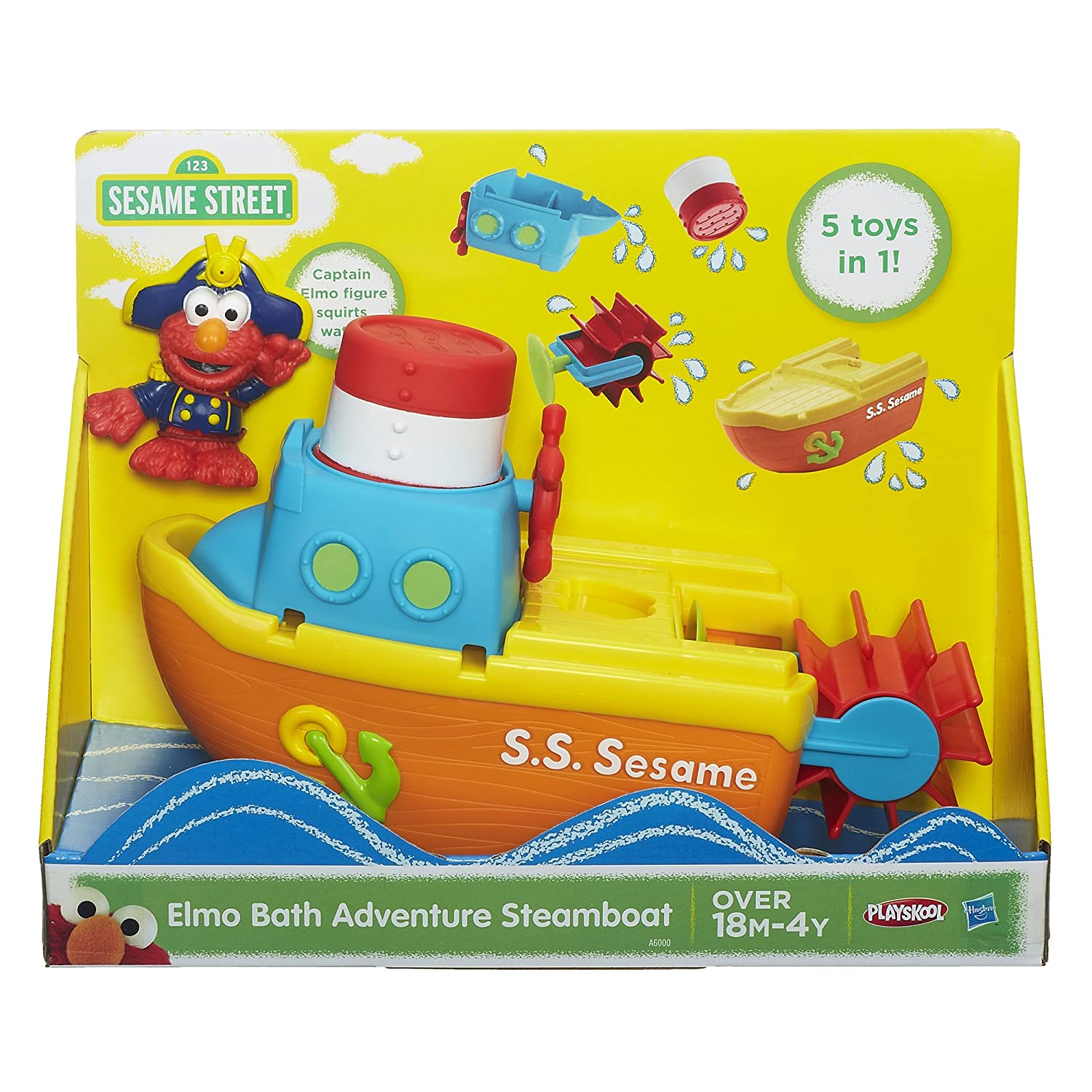Amazon com  Playskool Sesame Street Elmo Bath Adventure Steamboat Toy  Toys    Games. Amazon com  Playskool Sesame Street Elmo Bath Adventure Steamboat
