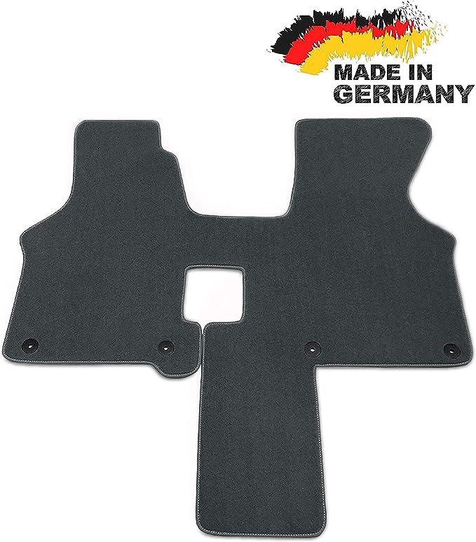 Car Styling Fußmatte Passend Für T4 2 Sitzer Schaltgetriebe Grau Premium Velours Graue Umrandung Auto