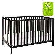 Union 2-in-1 Convertible Crib, Ebony Black