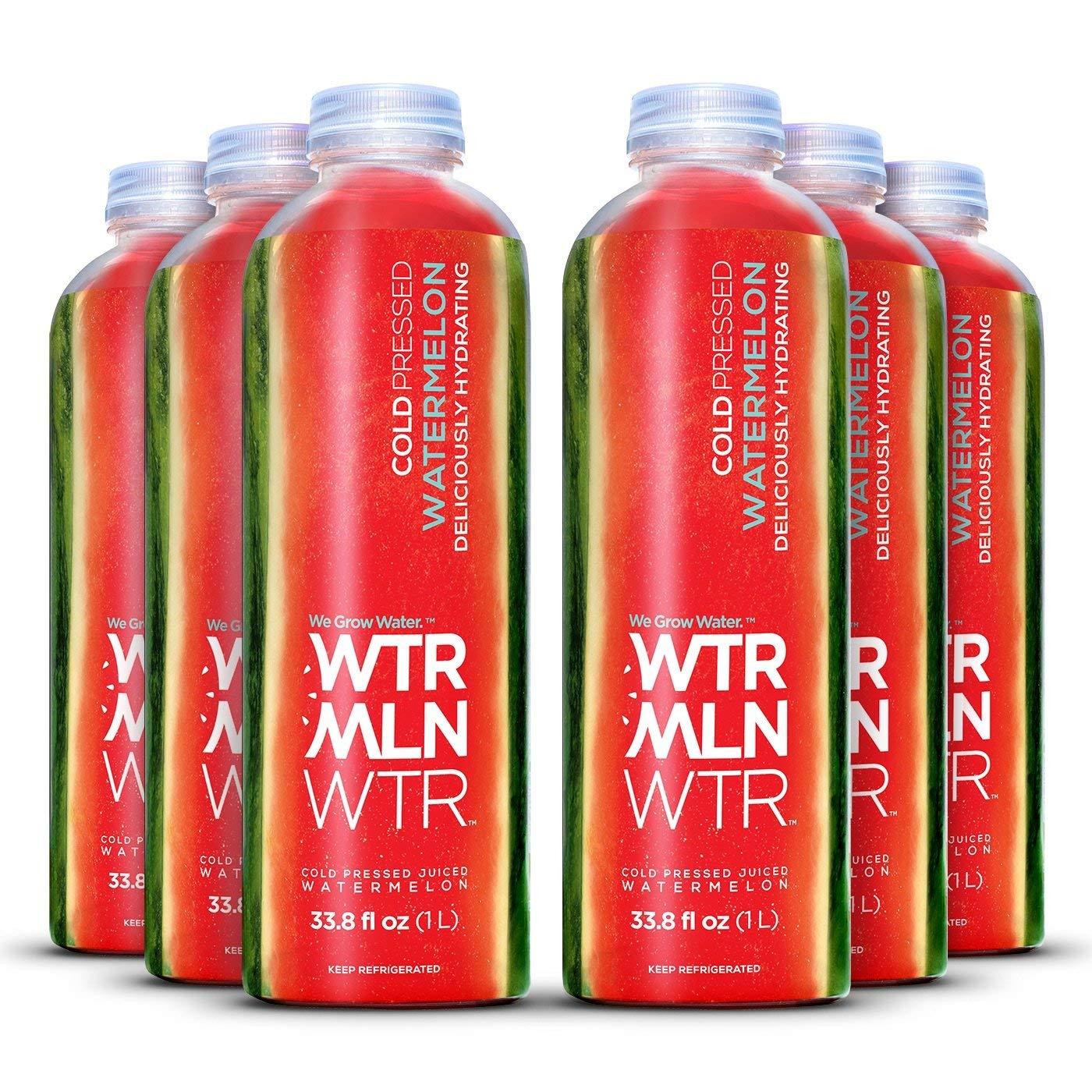 WTRMLN WTR Original Cold Pressed Juiced Watermelon, Original, 1 Liter Bottles (Pack of 6)
