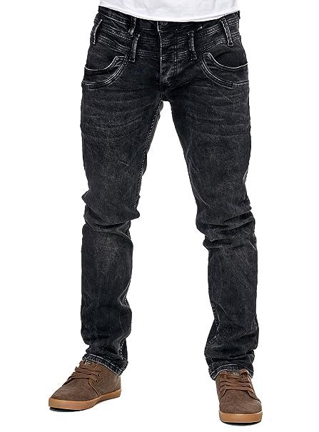 Reslad Jeans-Herren Slim Fit Basic Style Stretch-Denim Jeans-Hose RS ... 1c6bbbd152