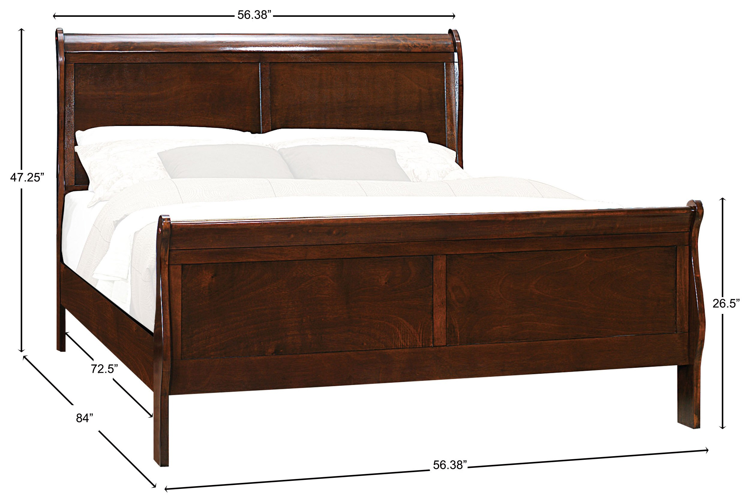 Homelegance Mayville Full Sleigh Bed Frame, Cherry by Homelegance (Image #4)
