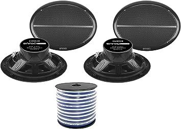 """4X  Enrock Marine Dual 6.5/"""" Weather Resistant Full Range Speakers 250 Watt"""
