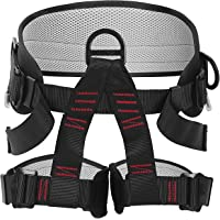 AmazeFan Climbing Harness, Thicken Rock Climbing Harness, Protect Waist Safety Harness, Wider Half Body Harness for Mountaineering Rock Climbing Fire Rescuing Rappelling Tree Climbing