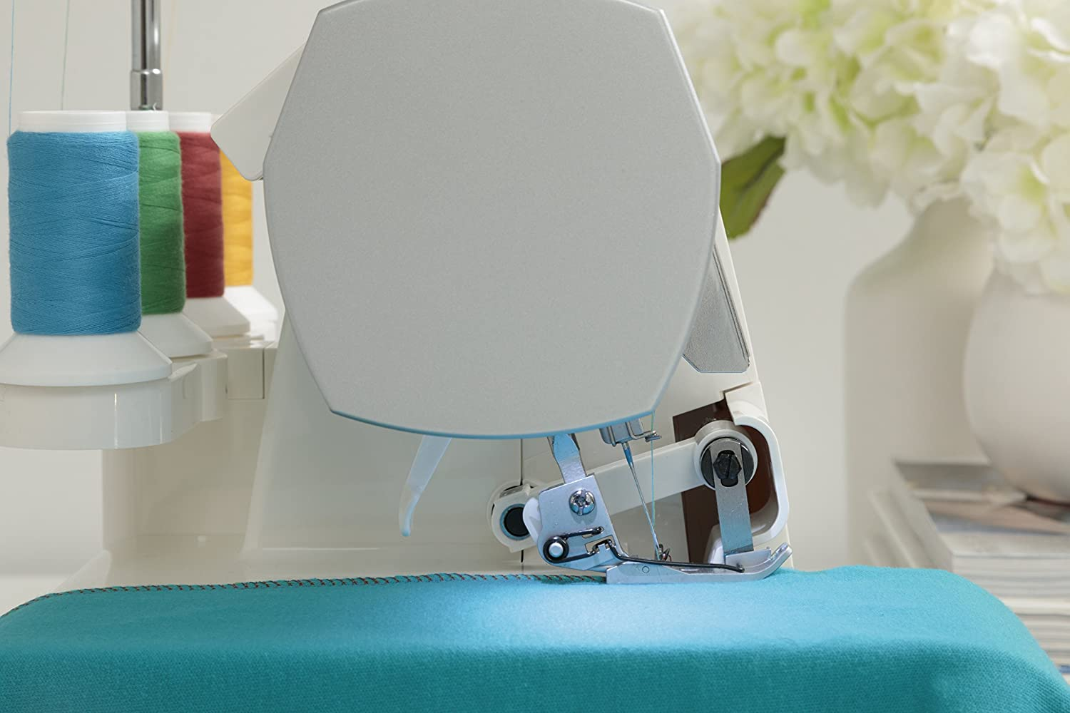 SINGER Serger 2-3-4 Thread Capability Overlock with Blind, Rolled Hems...