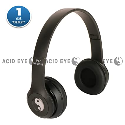 32264176f0f58b Acid Eye P47 Bluetooth 4.1 Headphone Wireless Headband Earphone Hands Free  Music Headset (Black)