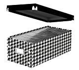 "Snap-N-Store DVD Storage Box, 5.5"" x 7.625"" x 15.5"", Houndstooth (SNS03318)"