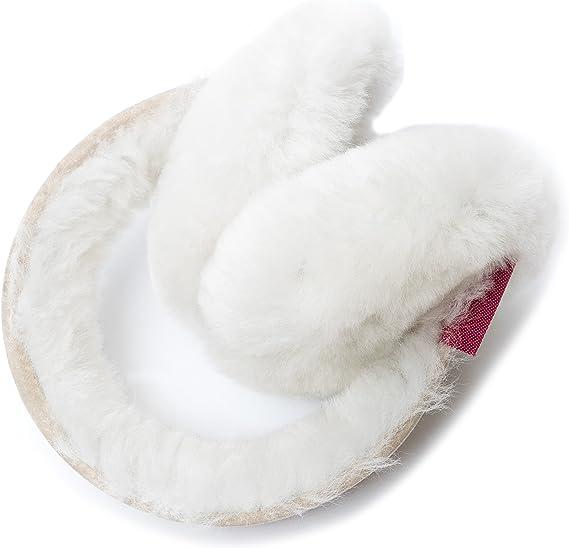Reissner Lammfelle Cache-Oreilles blanc en peau de mouton unisexe Femme//Homme // Enfant