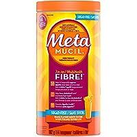 Metamucil Fiber Orange Flavour Smooth Texture, Sugar Free, 114 doses