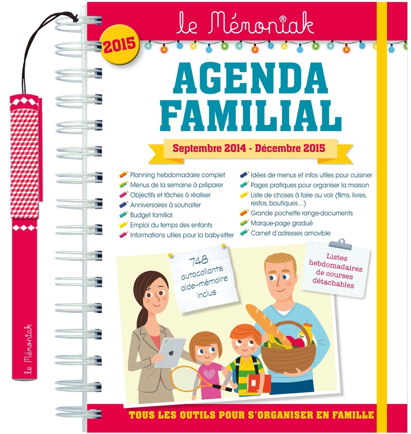 AGENDA FAMILIAL MEMONIAK 2014-2015: 9782351555620: Amazon ...