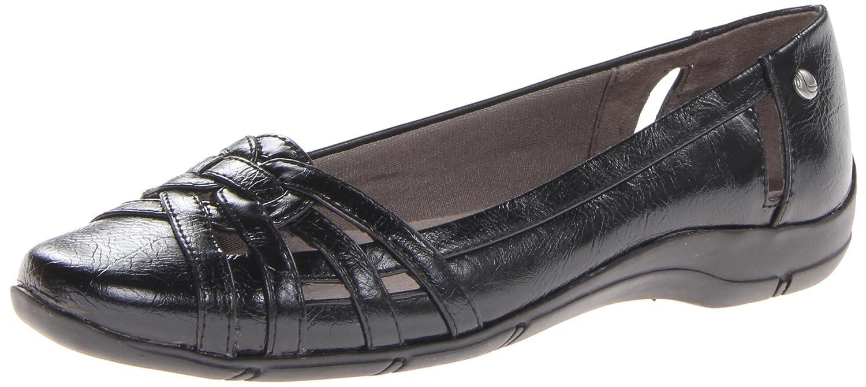 Amazon.com | LifeStride Women's, Diverse Slip on Shoes Black 9.5 N | Flats