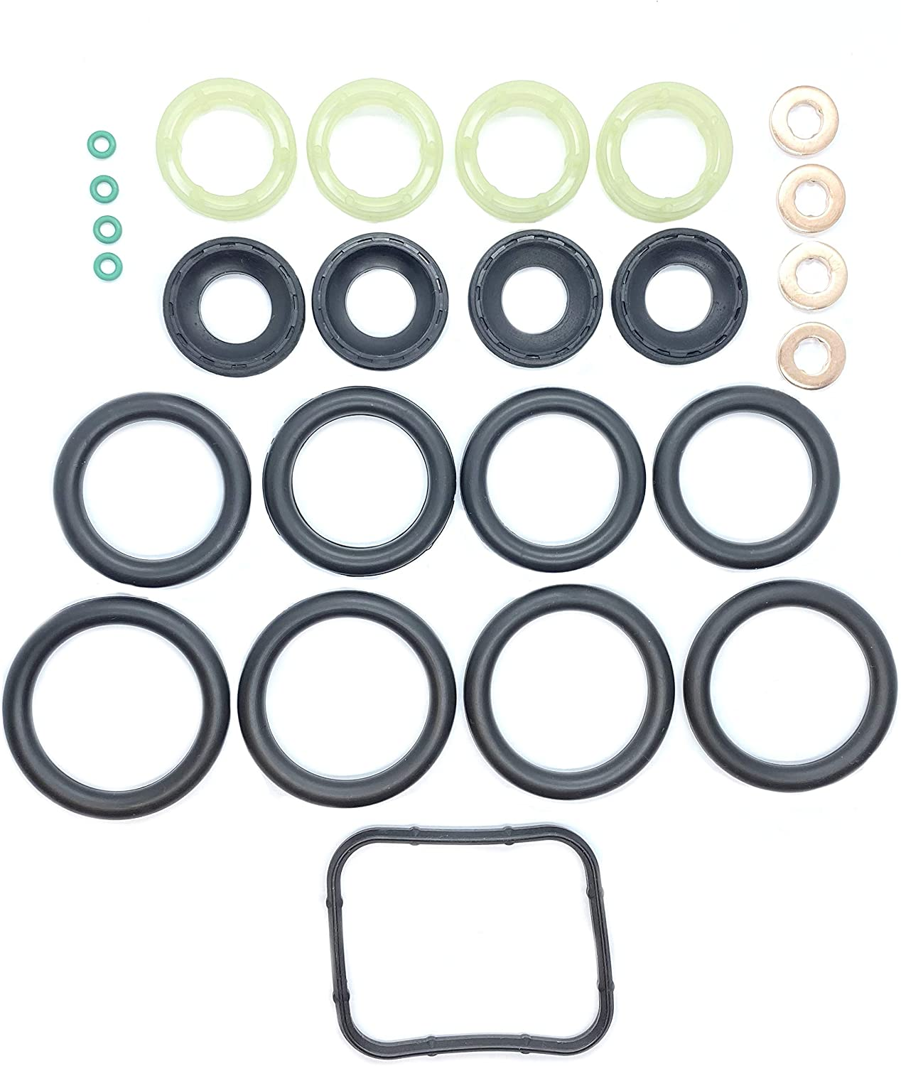 WASHER FUEL INJECTOR SEAL ORING SET FITS 1.6 TDCi//HDi MANIFOLD SEAL