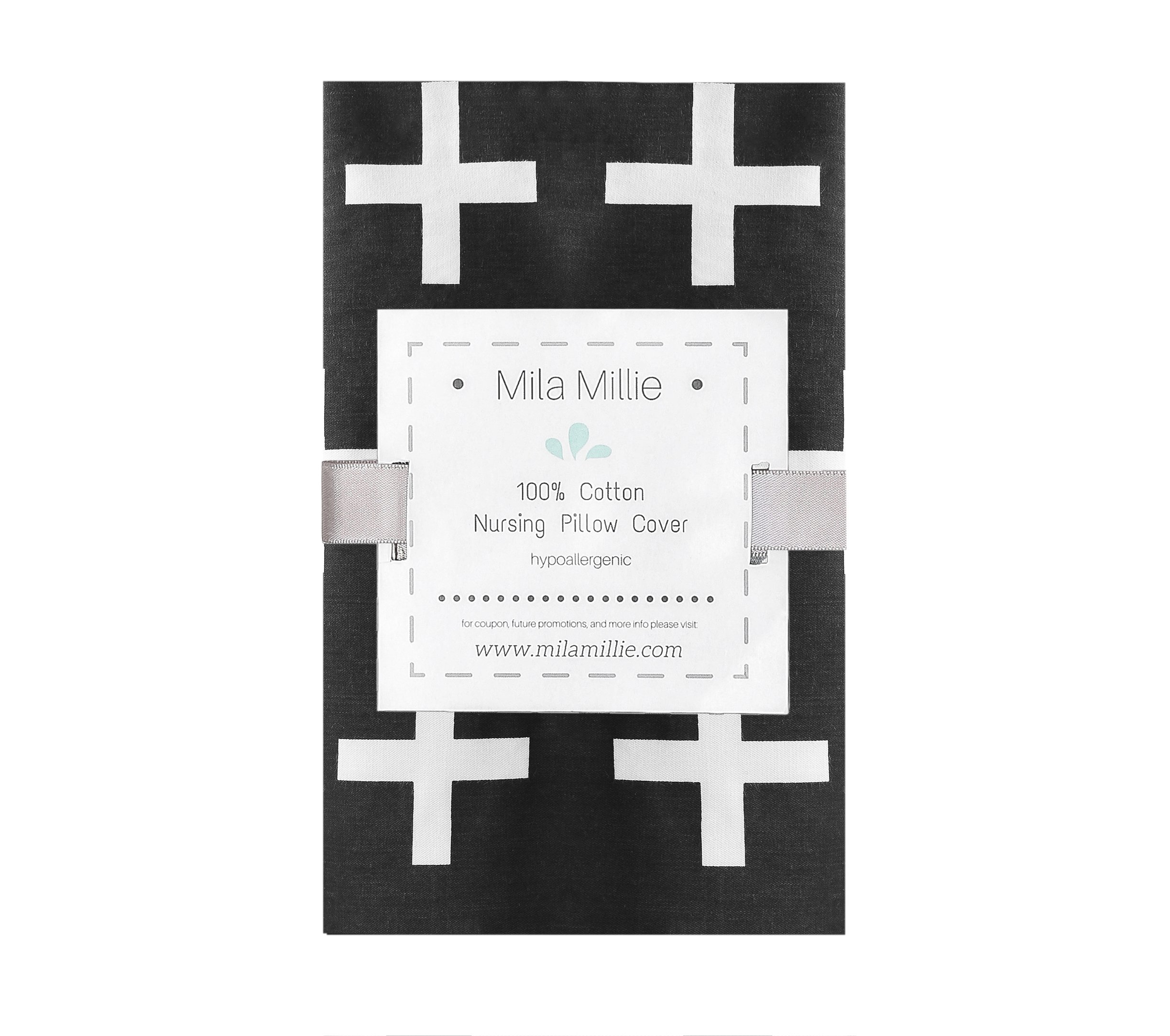 Premium Quality Nursing Pillow Cover by Mila Millie - Nordic Swiss White Cross Unisex Design Slipcover - 100% Cotton Hypoallergenic - Perfect for Breastfeeding Mothers - Baby Shower Gift by Mila Millie (Image #5)