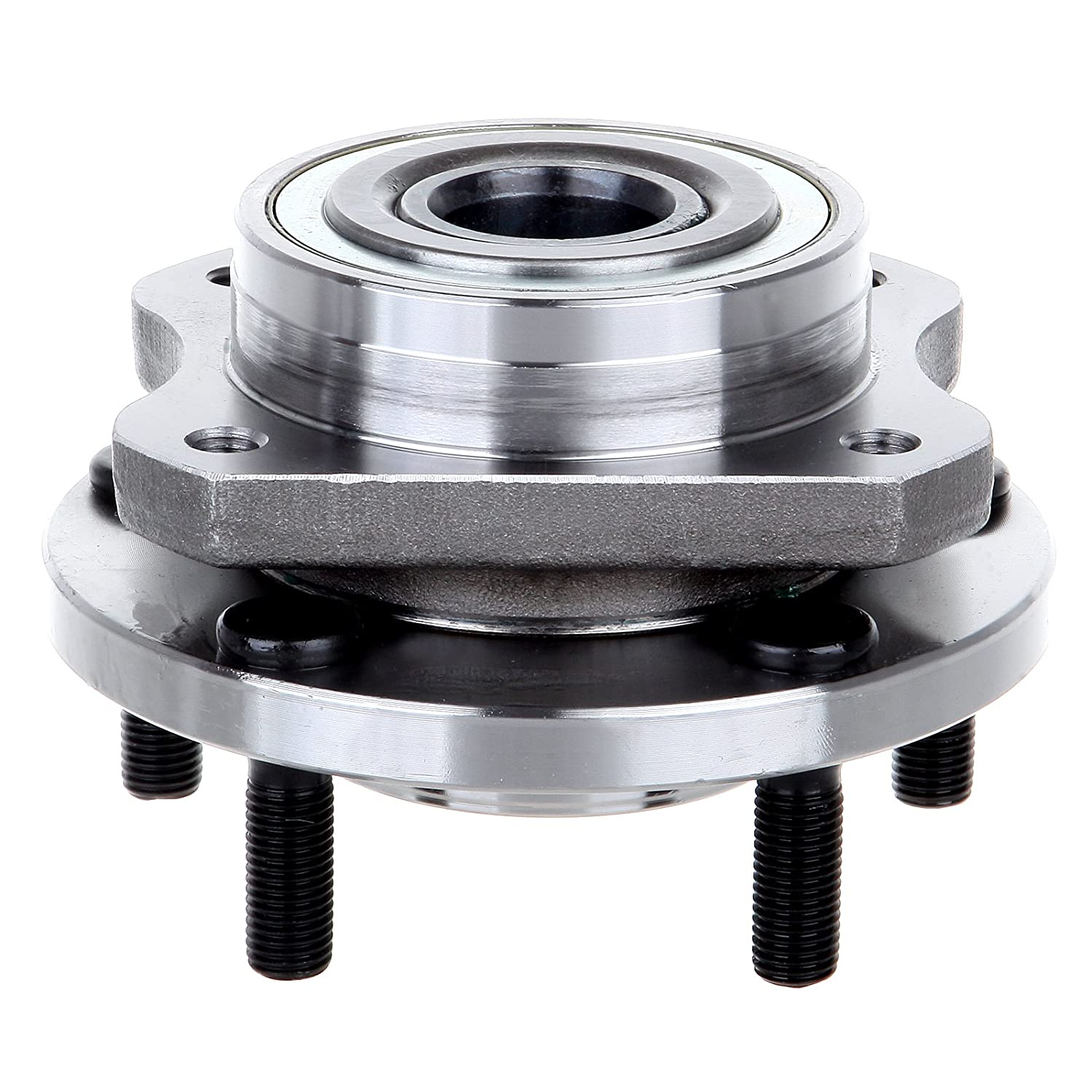 ECCPP Wheel Hub and Bearing Assembly Front 513123 fit 1996-2007 Plymouth Voyager Chrysler Dodge Caravan Replacement for 5 lugs wheel hubs no ABS 4 Bolt Flange
