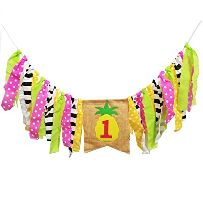 Hawaii Theme Pineapple Highchair Banner Handmade Garland Pineapple Decor for Birthday Party, Best Party Supplie: Toys & Games