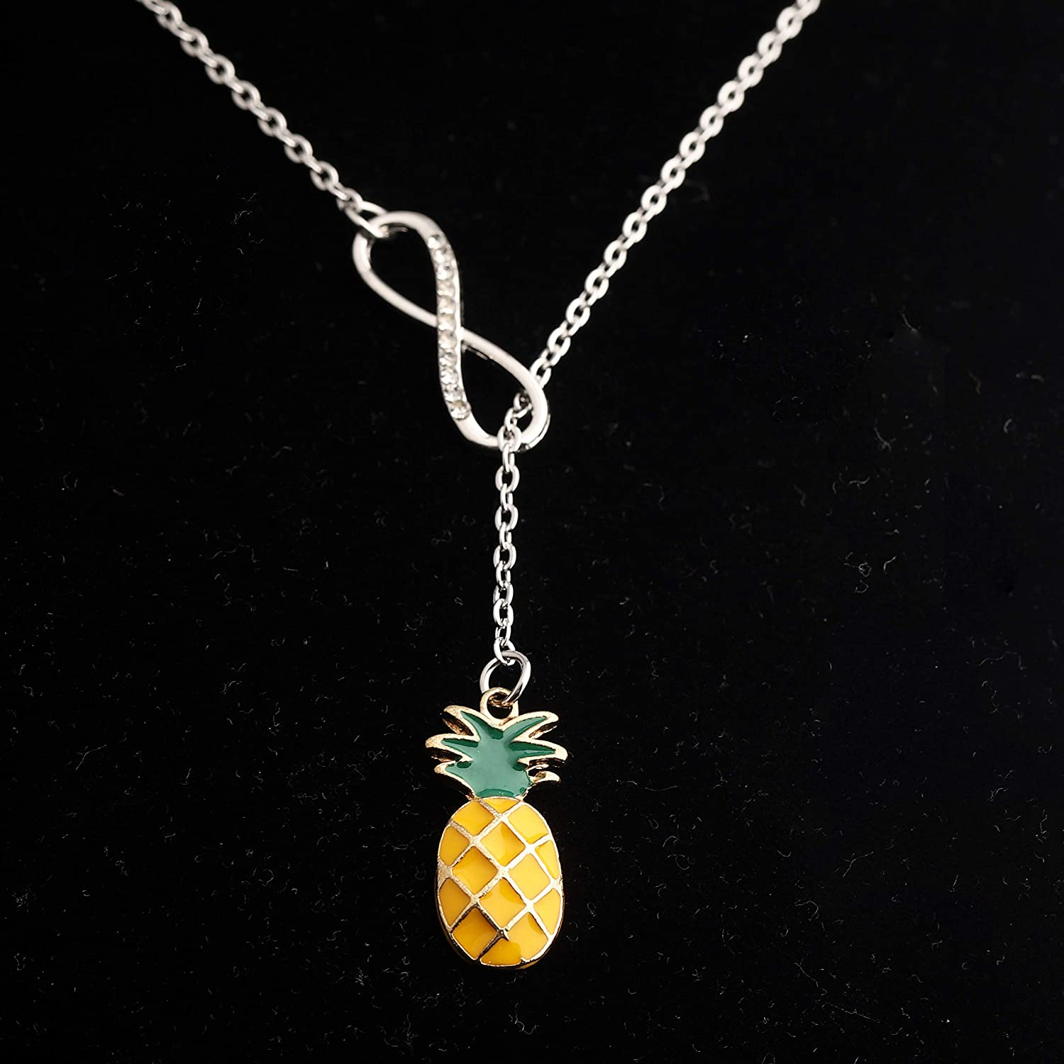 Pineapple Jewelry Pineapple Choker Pineapple Charm Necklace Pineapple Lover Gift Fruit Necklace Foodie Gift Copper Pineapple Necklace