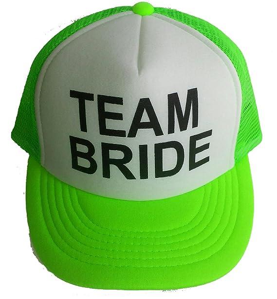 514c08f7bd8 Neon Team Bride Mesh Trucker Hat Cap Bachelorette Party Wedding Snapback ( Neon Green)