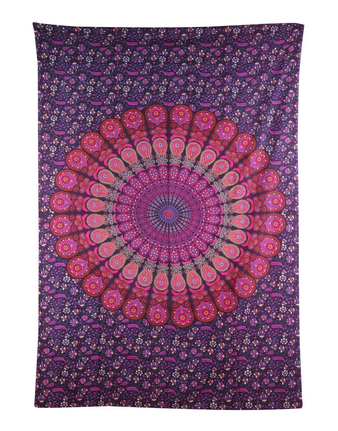 (Twin(54x72Inches)(140x185cms), Blue Green) Bless International Indian hippie Bohemian Psychedelic Peacock Mandala Wall hanging Bedding Tapestry (Blue Green, Twin(54x72Inches)(140x185cms)) B01HDCROD8 Twin(54x72Inches)(140x185cms),ブルーグリーン