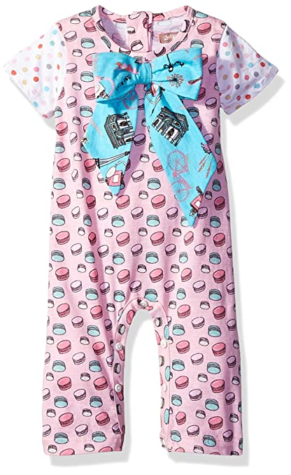 36369af2bec Amazon.com  Jelly the Pug Baby Girls  Nicole Romper  Clothing