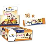 SunRype Mango Twist Fruit & Chia Bars - Vegan, Gluten-Free, Kosher, Peanut-Free (Case of 15)
