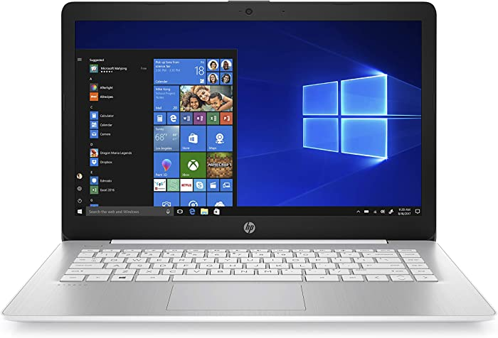 HP Stream 14-inch Laptop, AMD Dual-Core A4-9120E Processor, 4 GB SDRAM, 64 GB eMMC, Windows 10 Home in S Mode with Office 365 Personal for One Year (14-ds0070nr, Diamond White),Blue