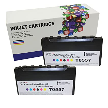 Hi Ink 2 Pack T557 Cartridges To Replace Epson Picturemate T557