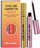 Eyelash Growth Serum Set of 2 for Natural Lash Thrive Enhancer Cosmetics, Eyebrow Booster to Thicker, Stronger, Longer, Healthier,Eyelash Extension Kits, Mother's Day Gift (6ml x 2)