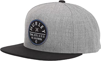 Hurley M Union Hat Gorras, Hombre, Dark Grey htr, 1SIZE: Amazon ...