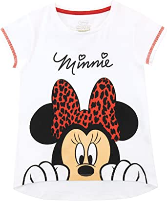Disney Camiseta de Manga Corta para niñas Minnie Mouse
