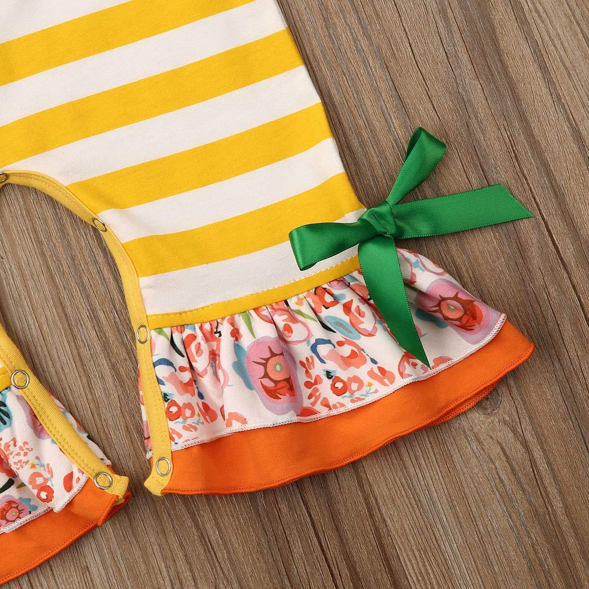 Infant Baby Girls Boys Christmas Outfits Stripe Santa Romper Bodysuit Jumpsuit Xmas Pajamas Clothing Set 0-24M