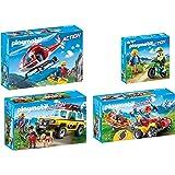 PLAYMOBIL® Family Fun set en 4 parties 9127 9128 9129 9130 montagnesauveteur hélicoptère + montagnesauveteur véhicule + montagnesportif + montagnesauveteur quad