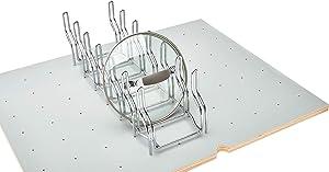 Rev-A-Shelf - 5DLD-1-CR - Drop-in Lid Organizer for Drawer Peg Board System,Chrome