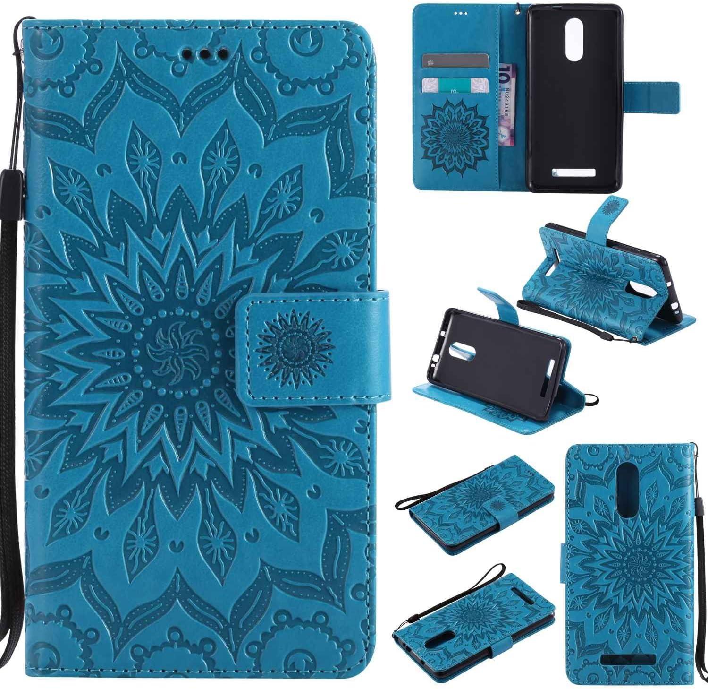 Guran® Funda de Cuero para Xiaomi Redmi Note 3 / Note 3 Pro Smartphone Función de Soporte con Ranura para Tarjetas Flip Case Cover-Azul: Amazon.es: Electrónica