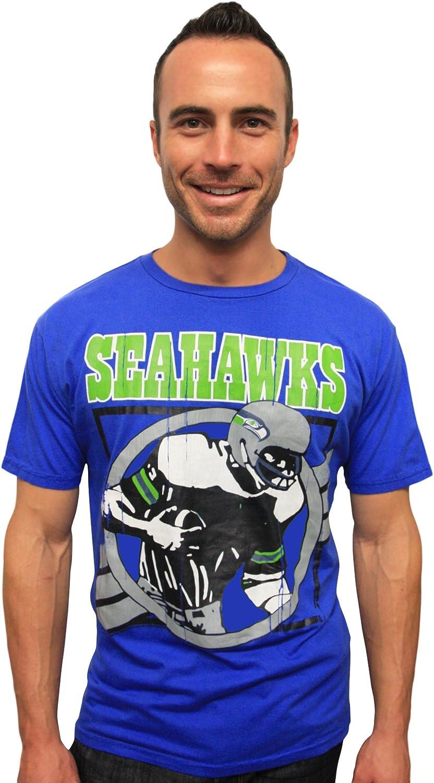 NFL Seattle Seahawks Men's Vintage Crackle Short Sleeve Crew Tee