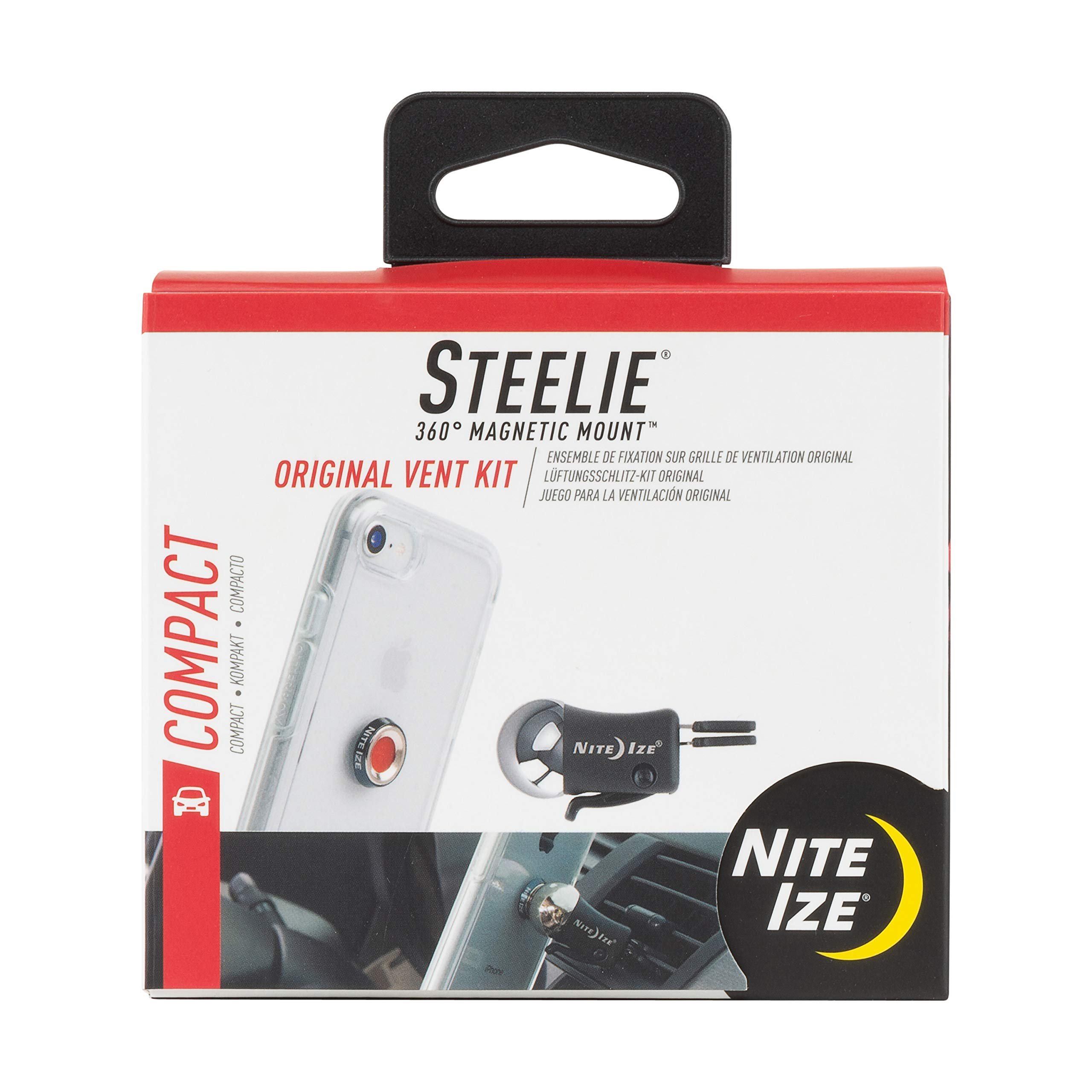 Nite Ize Original Steelie Vent Mount Kit-  Magnetic  Car Vent Mount for Smartphones by Nite Ize