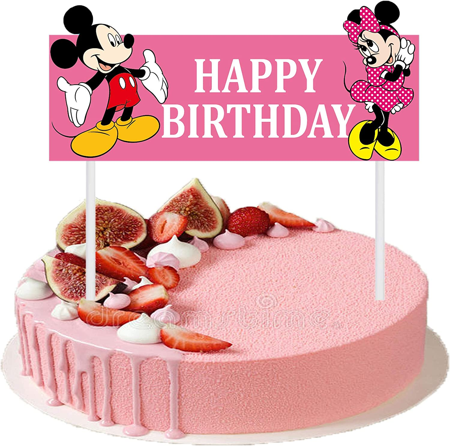 Tremendous Amazon Com Cute Happy Birthday Cake Topper 6 3 Inches Mickey Funny Birthday Cards Online Elaedamsfinfo