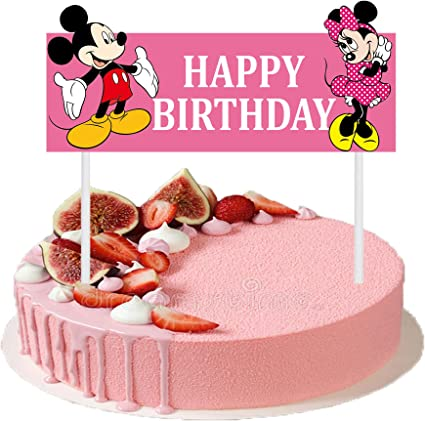 Awe Inspiring Amazon Com Cute Happy Birthday Cake Topper 6 3 Inches Mickey Personalised Birthday Cards Cominlily Jamesorg