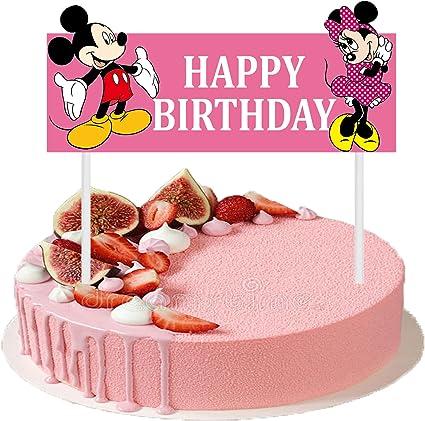 Astonishing Amazon Com Cute Happy Birthday Cake Topper 6 3 Inches Mickey Birthday Cards Printable Benkemecafe Filternl