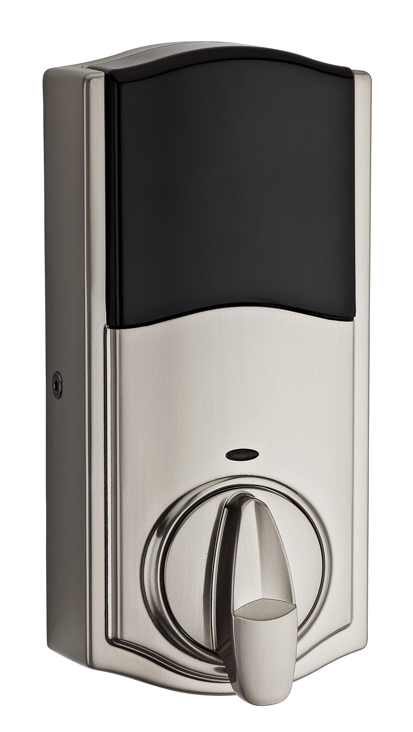 Kwikset 916 Z-Wave SmartCode Touchscreen Electronic Deadbolt, Works with Amazon Alexa via SmartThings, Wink, or Iris featuring SmartKey in Satin Nickel by Kwikset (Image #2)